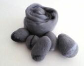 Silver Merino Wool Roving, wet felting wool, needle felting wool, wet felting roving, nuno felting wool, spinning wool, silver felting wool