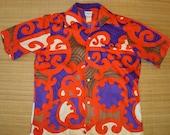 Mens Vintage 70's Tina's Tribal Tiki Rockabilly Hawaiian Aloha Shirt - L -  The Hana Shirt Co
