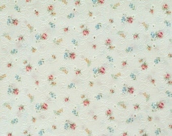 Delicate Floral Embroidered Eyelet, 1 yard