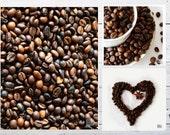 Coffee love, set of 3 photographs, coffee photograph, coffee beans, kitchen decor, coffee shop art