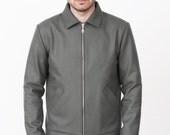 Collar Bomber. Woolen mens jacket. - mmhm...