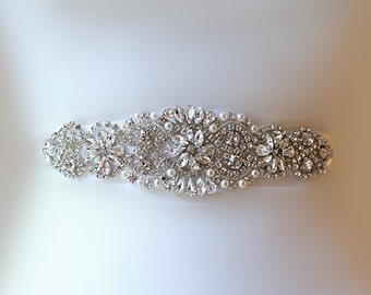 BIG SALE  weddWedding Belt, Bridal Belt, Sash Belt, Crystal Rhinestones & Pearls
