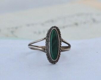 Southwestern Malachite Ring - Size 6.25