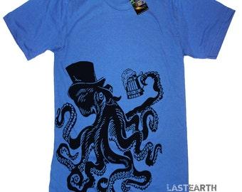 Octopus Party T Shirt Gift Tshirts - American Apparel Tshirt - S M L Xl 2X (15 Color Options)