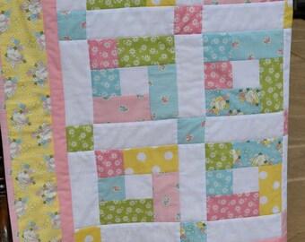 Baby/Toddler Girl Floral Patchwork Quilt