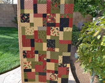 Christmas Lap Quilt Merry Melody Moda Fabric by Sandy Gervais
