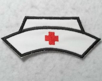 Nurse Hat MADE to ORDER - Choose COLOR and Size - Tutu & Shirt Supplies - Iron on Applique Patch 6367