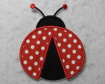 Ladybug - MADE to ORDER - Choose COLOR and Size - Tutu & Shirt Supplies - Iron on Applique Patch 7027