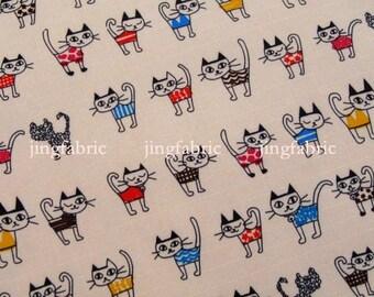 "W259A - Vinyl Waterproof Fabric - Mini cats - 27""x19""(70cmX50cm)"