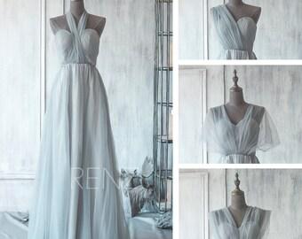2016 Convertible Bridesmaid dress, Long wedding dress, Sweetheart Halter Party dress, Long Formal dress, Maxi dress Floor Length(GS071)-RENZ