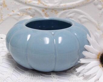 Baby Blue Pottery Scallop Design Planter