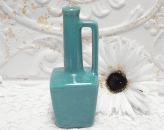 Small Green Pottery Vase Handle