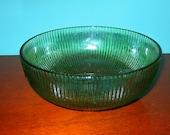 "Vintage E O Brody Emerald Glass Bowl 7"" , Cleveland, Ohio, Excellent"