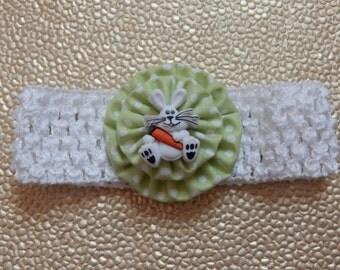 Easter Bunny Crochet Children's Headband