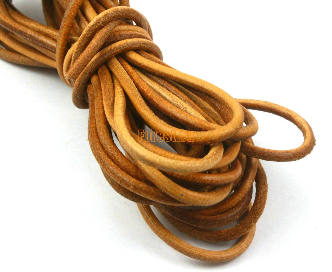 5 yards 3mm leather cord leather belt leather cord