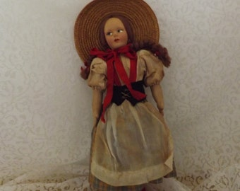 Antique French Country Dresser Doll