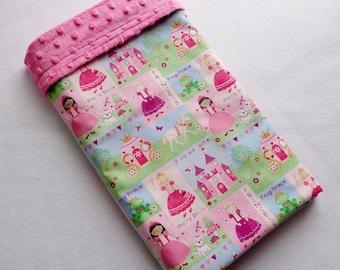 Princess Print /Soft Minky Baby Blanket ,Ready to Ship