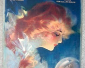 PRETTY GIRL Vintage Sheet Music In Sweet September Red Haired Lady 1920 Crystal Ball
