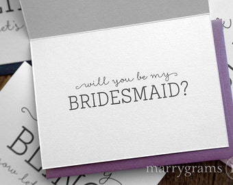 Fun Be My Bridesmaid Cards For Maid Of Honor Flower Girl Wedding Party