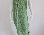 Silk Batik Sarong - Fresh Green Leaves