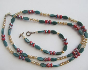 Jewelrey Set, Beaded Necklace and Bracelet