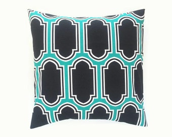 CLEARANCE Jade Green Fargo Throw Pillow Cover. 18X18 Inches. Decorative Couch Pillow Cover. Geometric Cushion.