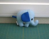 Elephant Pillow - Elephant Toy - Elephant Plush - Elephant Doll (Blue) - Ready To Ship