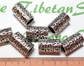 6 pcs per pack 18x10mm 8mm opening diameter Spacer Tube Antique Silver Finish Lead Free Pewter