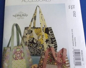 Fashionable, Quilted, Fabric Bags in Three Sizes