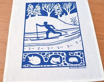 Cross Country Linen Cotton Tea Towel: Steel Blue (Indigo sold out)