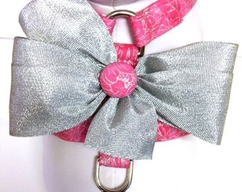 Dog Harness- Pink and Silver