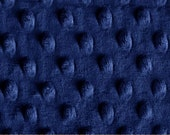 1.5 yards of Minky Cuddle Dimple Dot Midnight Blue