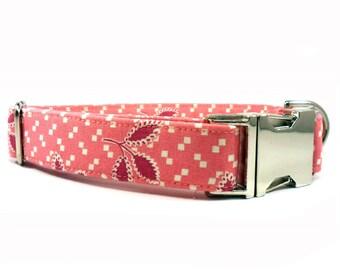 Dog Collar, GIRL Dog Collar, Pink Dog Collar, Handmade Dog Collar