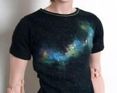 70cm / Super Gem BJD Boy Rainbow Galaxy T-shirt