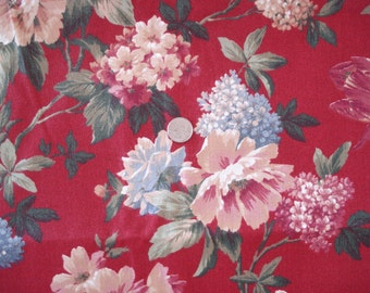 Cotton Blend Fabric Multicolored Floral Print.