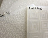 Sizzix Cuttlebug Tim Holtz Texture Fade Embossing Folder, Gently Used