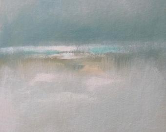 "Painting Acrylic Original, 10"" x 14""  Beach Studies,  Abstract Seascape on Canvas Panel"
