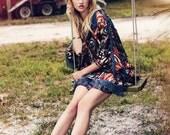 Blouse - Dress - Fringe - Western Inspired Feathers & Fringe Dress/Blouse