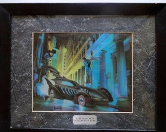 vintage batman chrome art in frame 1995