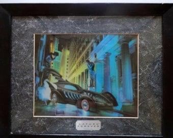 Vintage Batman Chrome Art in Frame 1995