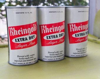Vintage Piggy Bank, Bank, Rheingold Beer, Beer Can Bank, Rheingold Extra Dry,Rheingold Beer Can, Tin Can Bank, Novelty Bank, Novelty Item