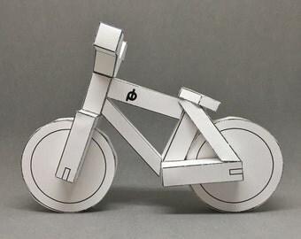 PDF - paperbikes v1 - papercraft bike  - mountain bicycle MTB