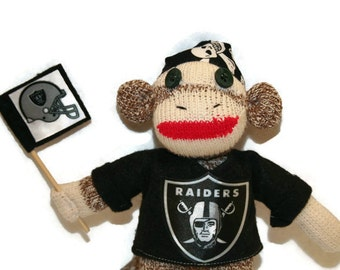 "8"" Sock Monkey Raider Fan"