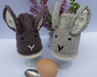 KNITTING PDF PATTERN - Easter Bunny Egg Cosies