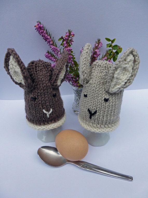 KNITTING PDF PATTERN Easter Bunny Egg Cosies