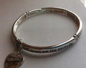 Serenity Prayer Stretch Bangle Bracelet