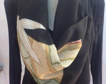 Fabulous kimono silk scarf/wall hanging, FREE SHIPPING