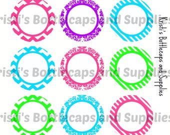 Bright Editable Prints Bottlecap Digital Download