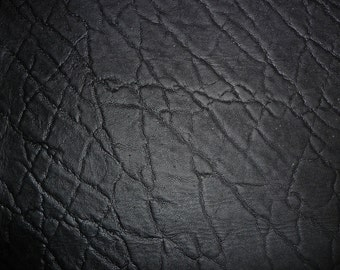 """Leather 6 Pack4""""x6"""" Distressed Matte Black ELEPHANT Embossed Cowhide 3-3.25 oz /1.2-1.3 mm PeggySueAlso™"""