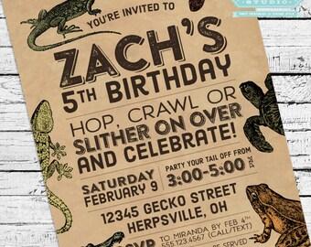 Reptiles & Amphibians Invitation